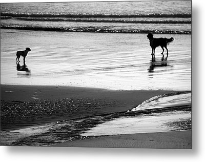 Standoff At The Beach Metal Print