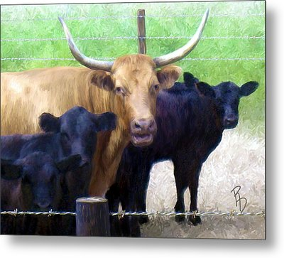 Standout Steer Metal Print by Ric Darrell