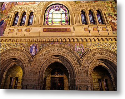 Stanford University Memorial Church Close Up Metal Print by Scott McGuire