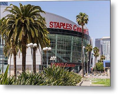 Staples Center In Los Angeles California Metal Print by Paul Velgos