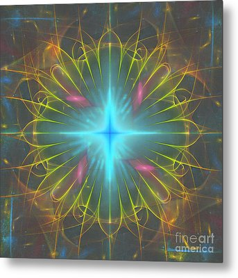 Star 4 Metal Print by Ursula Freer