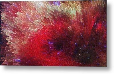 Star Burst - Red Abstract Art By Sharon Cummings Metal Print by Sharon Cummings