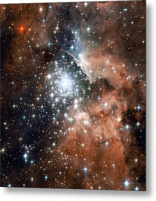 Star Cluster And Nebula Metal Print by Sebastian Musial