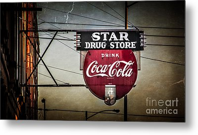 Star Drug Store 2 Metal Print by Perry Webster