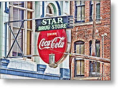 Star Drug Store - Hdr Neon Sign Metal Print by Scott Pellegrin