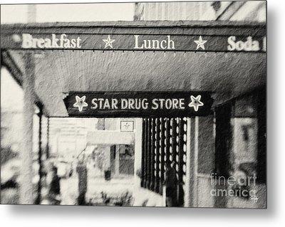Star Drug Store Marquee Metal Print by Scott Pellegrin