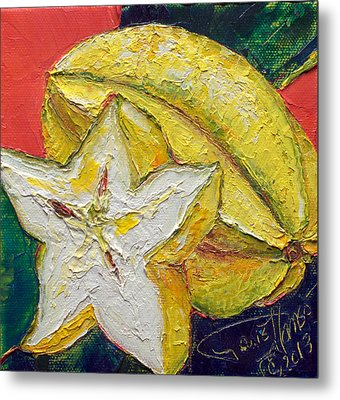 Star Fruit Metal Print by Paris Wyatt Llanso