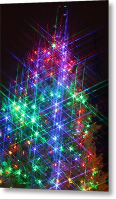 Metal Print featuring the photograph Star Like Christmas Lights by Patrice Zinck