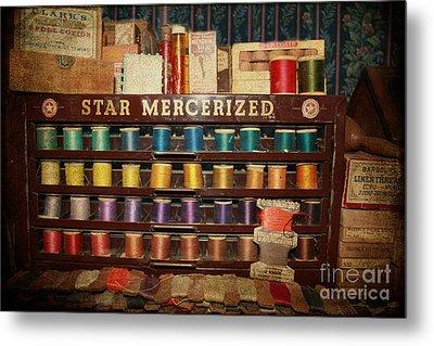 Star Mercerized Thread Display Metal Print by Janice Rae Pariza