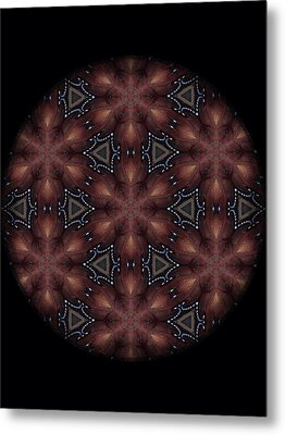 Star Octopus Mandala Metal Print by Karen Buford