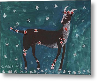 Star Sign Capricorn Metal Print by Sushila Burgess