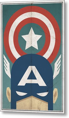 Metal Print featuring the digital art Star-spangled Avenger by Michael Myers
