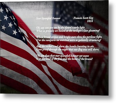 Star Spangled Banner  Metal Print by Ella Kaye Dickey