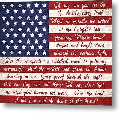 Star Spangled Flag Metal Print