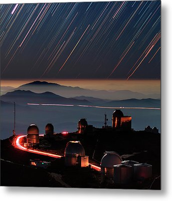 Star Trails Over La Silla Observatory Metal Print