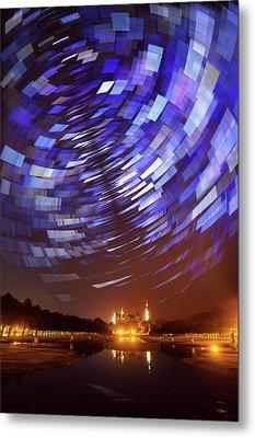 Star Trails Over Schwerin Palace Metal Print by Babak Tafreshi