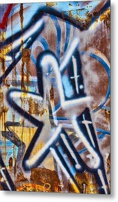 Star Train Graffiti Metal Print by Carol Leigh