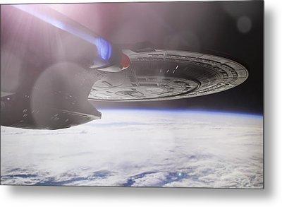 Metal Print featuring the photograph Star Trek - A New Civilization by Jason Politte