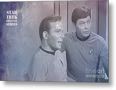 Star Trek Kirk And Mccoy Metal Print