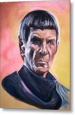 Star Trek Old Spock  Metal Print