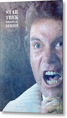 Star Trek Original Series Kirk Khan Metal Print by Pablo Franchi