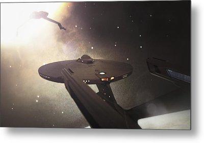 Star Trek Standoff Metal Print by Jason Politte
