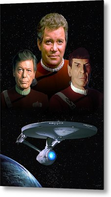 Star Trek - The Undiscovered Country Metal Print by Paul Tagliamonte