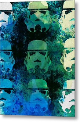 Star Warriors Watercolor 1 Metal Print by Naxart Studio