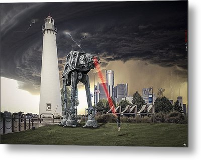 Metal Print featuring the photograph Star Wars All Terrain Armored Transport by Nicholas  Grunas
