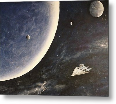 Star Wars Mural Metal Print
