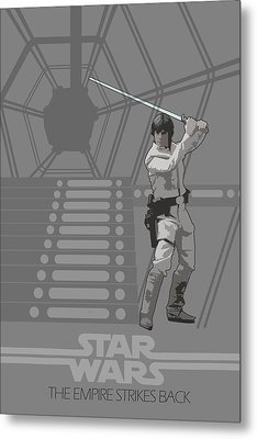 Star Wars Original Trilogy Ep 5 Metal Print