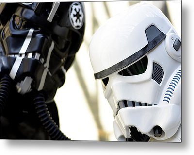Star Wars Stormtrooper Closeup Metal Print