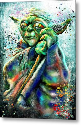 Star Wars Yoda Metal Print