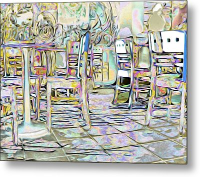 Metal Print featuring the digital art Starbucks After Hours by Mark Greenberg