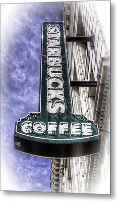 Starbucks - Ballard Metal Print by Spencer McDonald