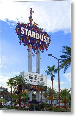 Stardust Sign Metal Print by Mike McGlothlen