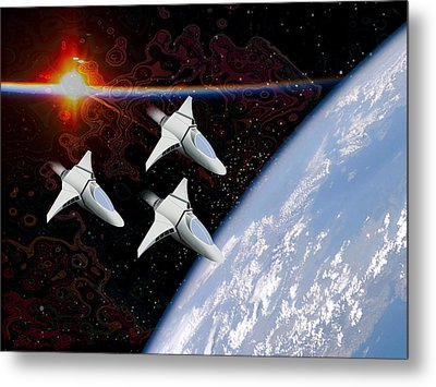 Starfighters Metal Print by Piero Lucia