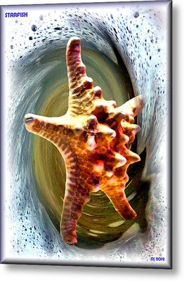 Metal Print featuring the digital art Starfish by Daniel Janda