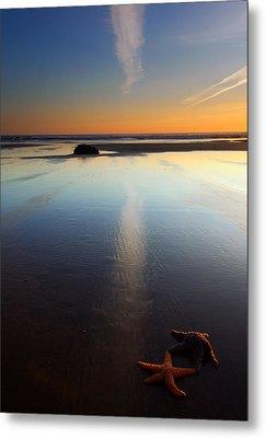 Starfish Sunset Metal Print