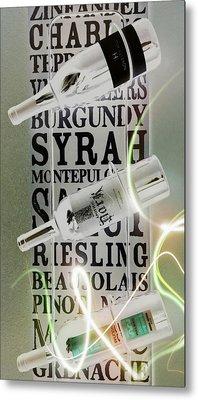 Stargazer Wine Art Metal Print by Brad Walters