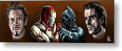 Stark Industries Vs Wayne Enterprises Metal Print by Vinny John Usuriello