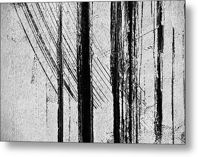 Starlight Behind The Trees Metal Print by KM Corcoran