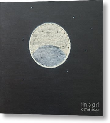 Metal Print featuring the painting Starlight by Mini Arora