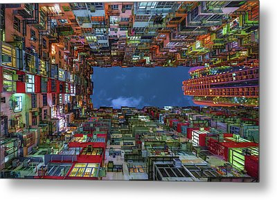 Starring Up Metal Print