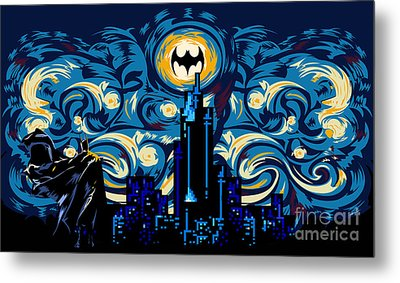 Starry Knight Metal Print by Three Second