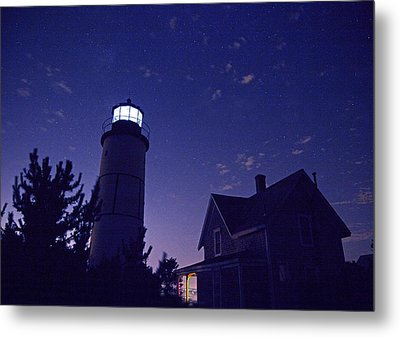 Starry Night At Sandy Neck Lighthouse Metal Print by Charles Harden