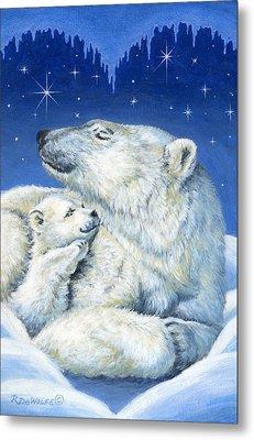 Starry Night Bears Metal Print by Richard De Wolfe