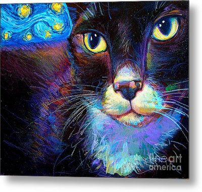 Metal Print featuring the painting Starry Night Jack by Robert Phelps
