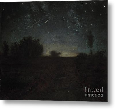 Starry Night Metal Print by Jean-Francois Millet