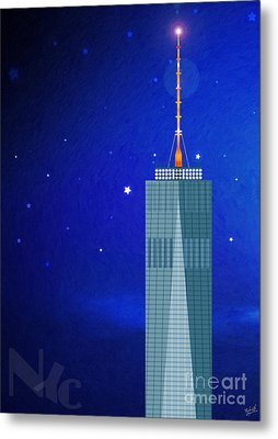 Starry Nights - Wtc One Metal Print by Nishanth Gopinathan